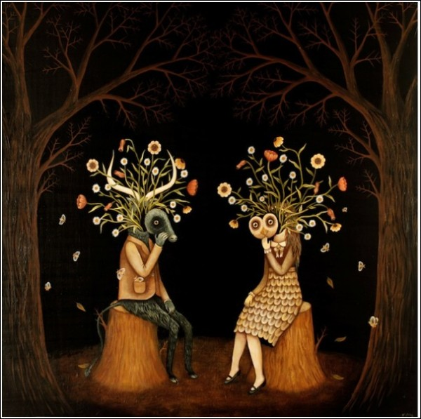 Сова и все-все-все: интересные картины Кэтлин Лолли о лесных мечтателях