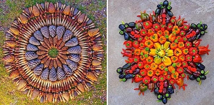 Мандалы своими руками: осенние композиции из шишек и овощей