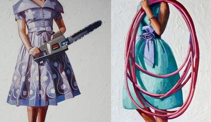 Женские игрушки: масляная живопись Келли Римтсен