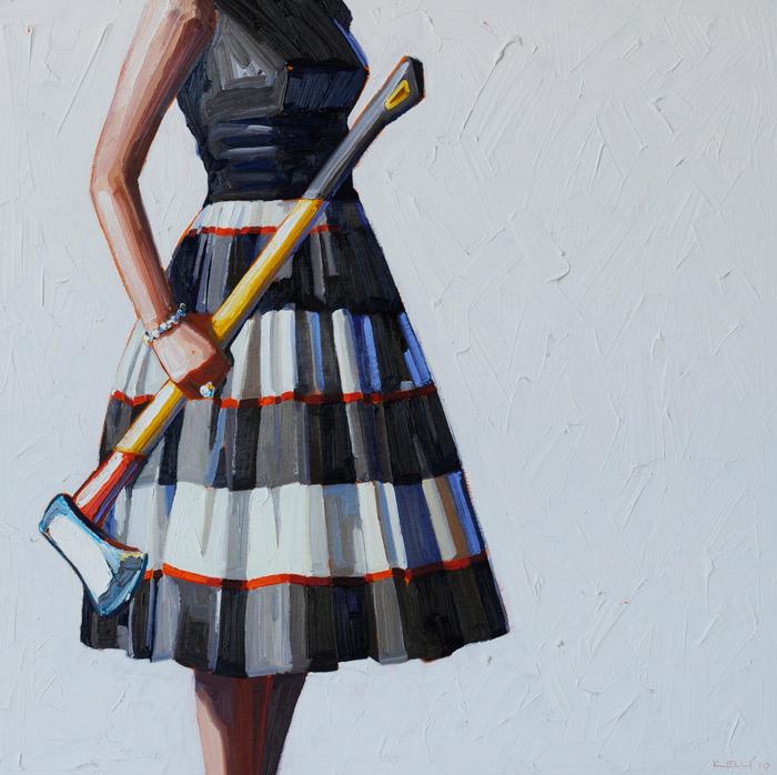 Дамский топорик: масляная живопись Келли Римтсен