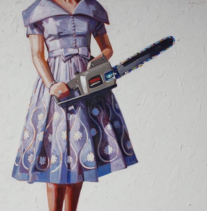 *Пила-6*: масляная живопись Келли Римтсен