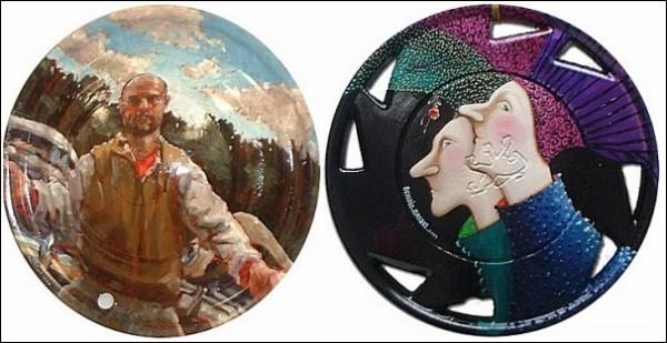Колесные колпаки, преображенные до неузнаваемости: проект «Искусство со свалки»