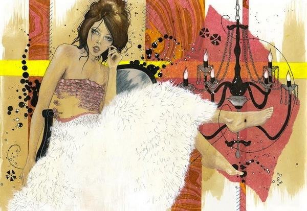 Модные барышни: женские портреты Лауры Вессон