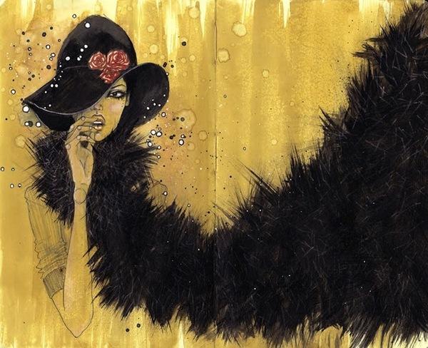 Оригинальные женские портреты: иллюстрации Лауры Вессон