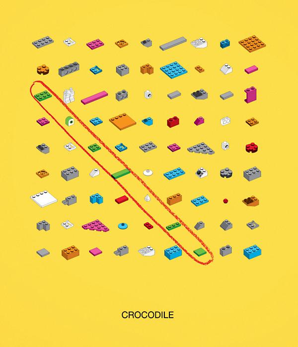 Ответ - крокодил: оригинальная реклама конструктора «Лего»