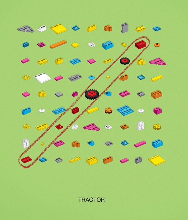 Трактор, на котором можно уехать в Данию: оригинальная реклама конструктора «Лего»