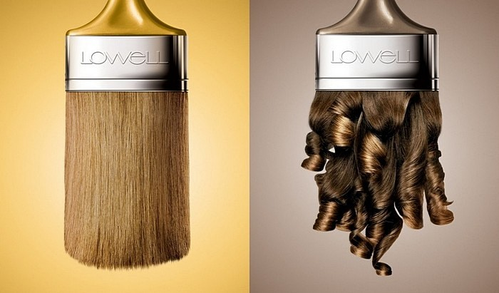 Кисть из материала заказчика: нестандартная реклама краски для волос