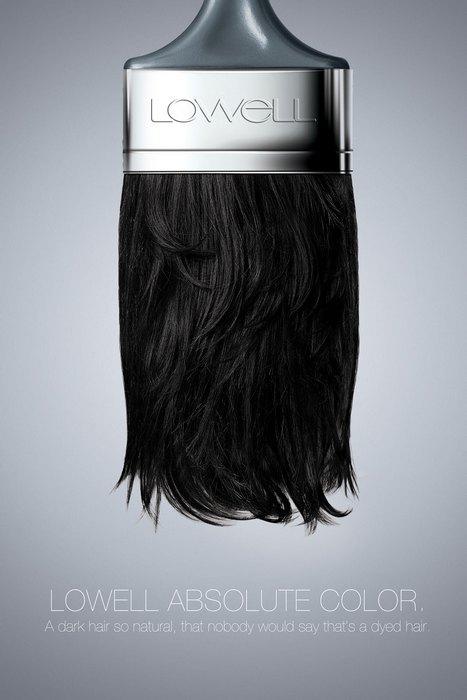 Кисть из натуральных волос: нестандартная реклама краски