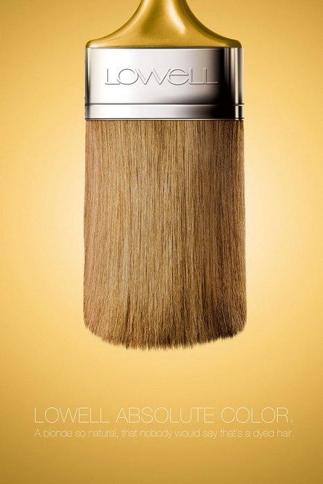 Шиньон с ручкой: нестандартная реклама краски для волос
