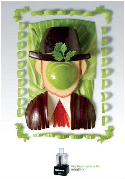 Магритт в стиле Арчимбольдо: картинки из овощей
