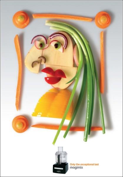 Пикассо в стиле Арчимбольдо: картинки из овощей