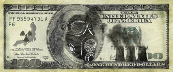 Забавная модернизация 100 долларов США: Франклин в противогазе
