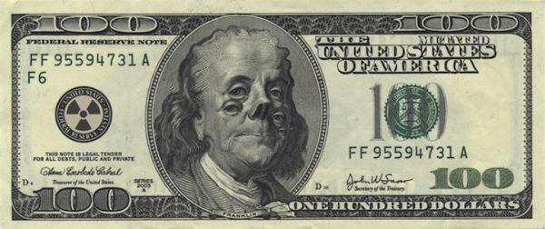 Забавная модернизация 100 долларов США: Франклин-мутант