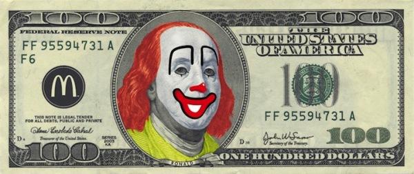 Забавная модернизация 100 долларов США: Франклин-Макдональд