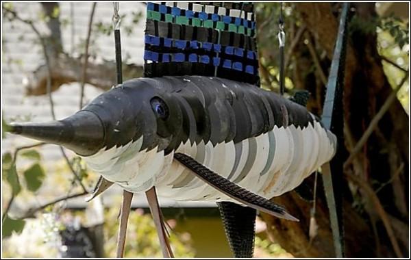 Искусство против мусора: рыба-меч