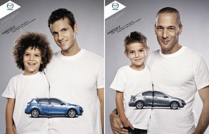 Одна «игрушка» на двоих: оригинальная реклама «Мазды»