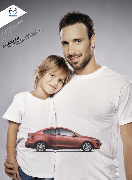 Автомобиль объединяет: оригинальная реклама «Мазды»