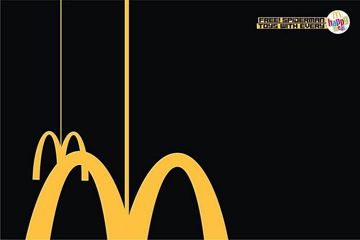 СпайдерМен. Креативная реклама «Макдональдса»