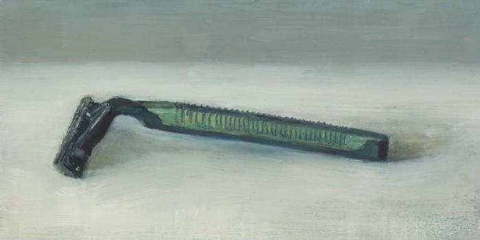 Обычный бритвенный станок: масляная живопись Майкла Кнуда Росса