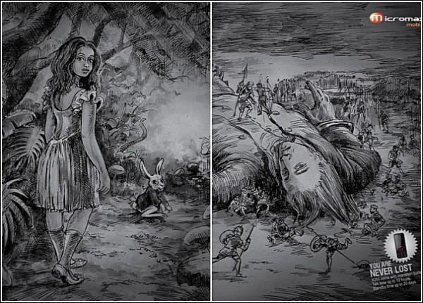 Алиса, не пропадай: креативная мобильная реклама