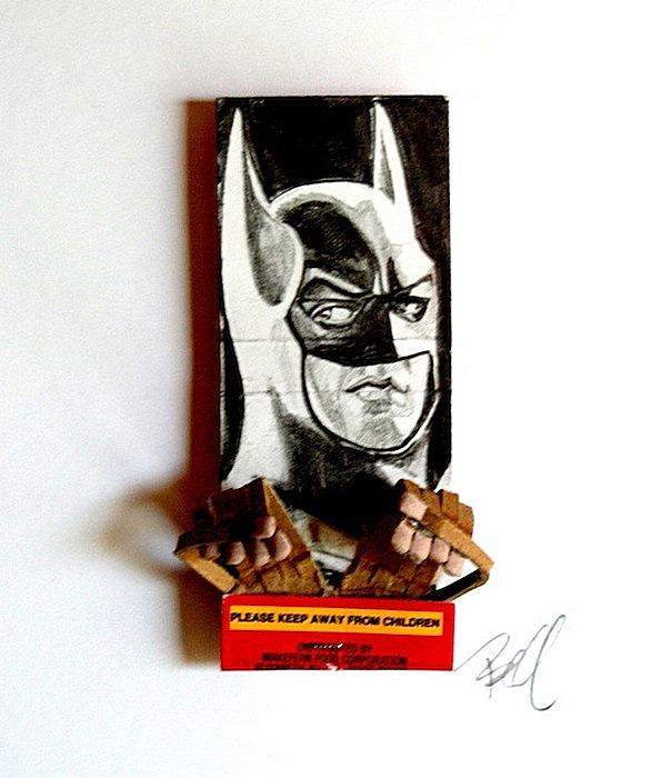 Поделки из спичечных коробков: Бэтмен