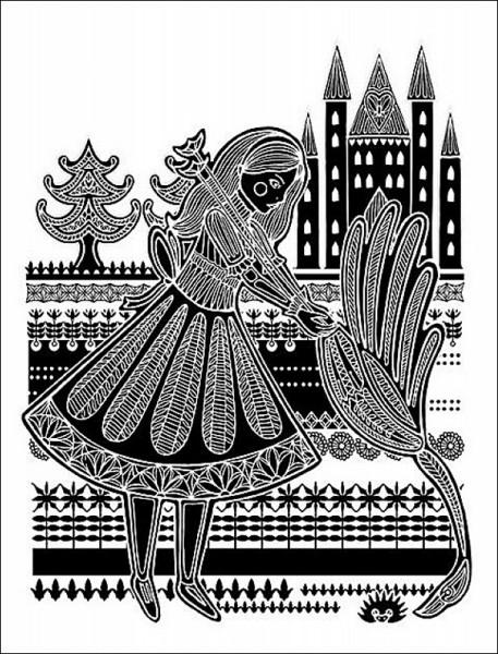 Иллюстрации к *Алисе* в стиле этно: крокет