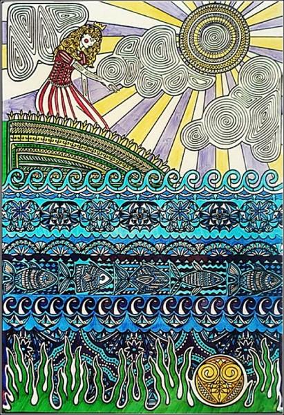 Яркие иллюстрации Пунам Мистри в стиле этно