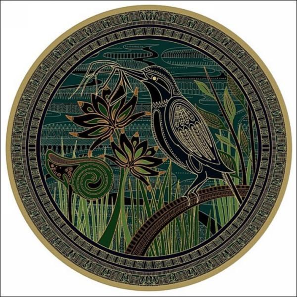 Иллюстрации Пунам Мистри в стиле этно: птички