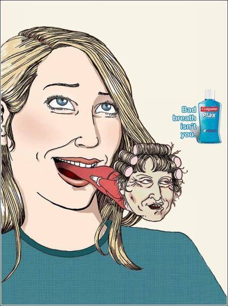 Реклама ополаскивателя для полости рта: с утра