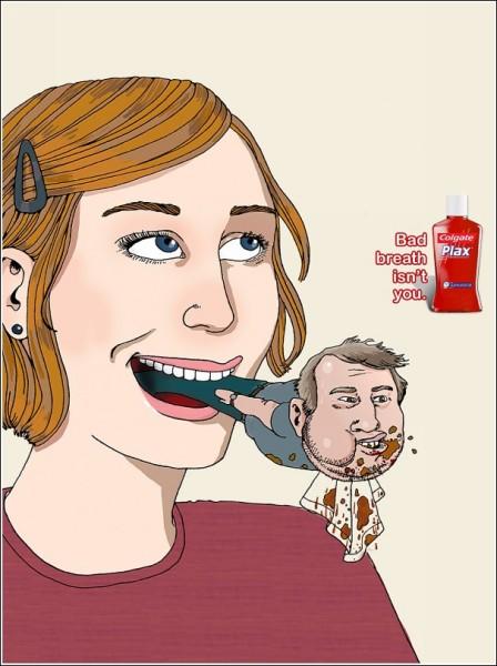 Реклама ополаскивателя для полости рта: после обеда