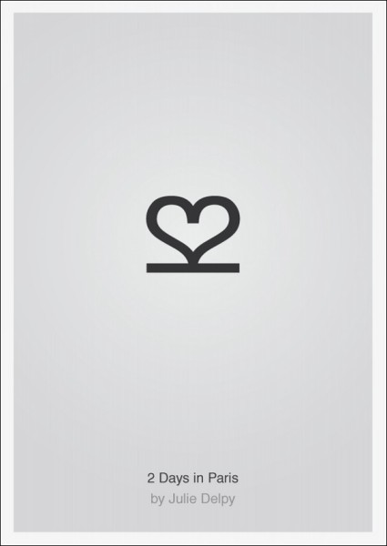 Лаконичные плакаты фильмов Патрика Свенссона: *Два дня в Париже*