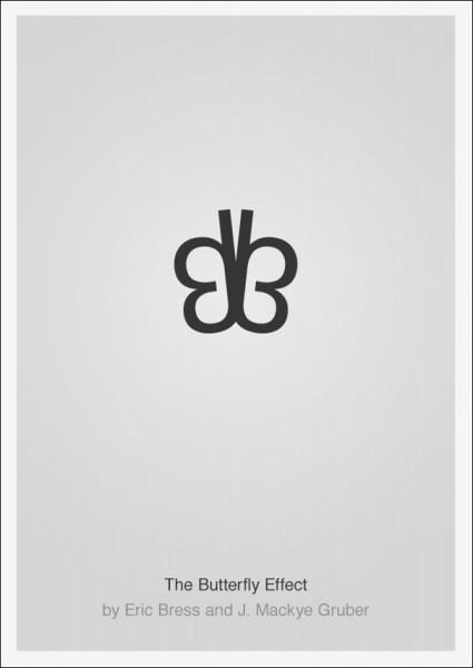 Лаконичные плакаты фильмов Патрика Свенссона: *Эффект бабочки*