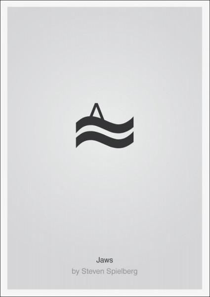 Лаконичные плакаты фильмов Патрика Свенссона: *Челюсти*