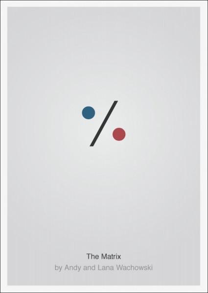 Лаконичные плакаты фильмов Патрика Свенссона: *Матрица*
