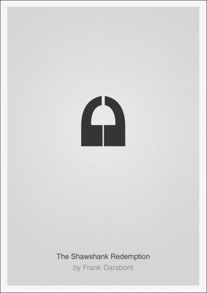 Лаконичные плакаты фильмов Патрика Свенссона: *Побег из Шоушенка*