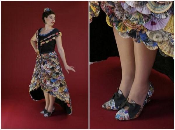 Трэш-кутюр: вечернее платье из рекламной макулатуры