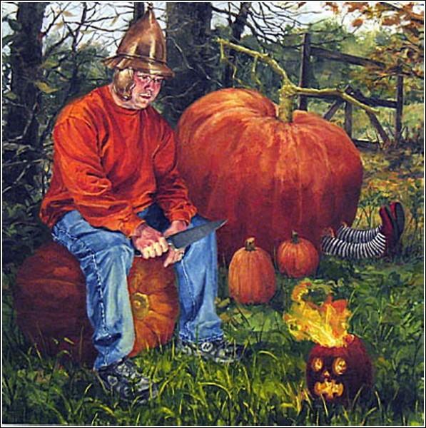 Хэллоуин: жутковатые картины Натаниэла Роджерса