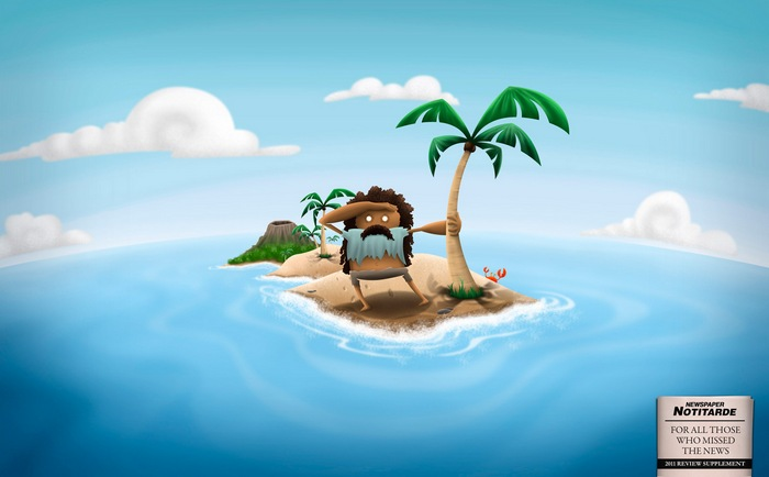 Газетная реклама для тех, кто был на необитаемом острове: итоги 2011 года