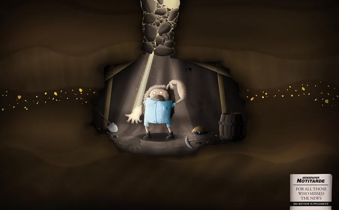 Газетная реклама для тех, кто был в шахте: итоги 2011 года