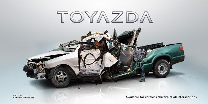 «Тойазда»: новые модели авто + креативное напоминание о ПДД