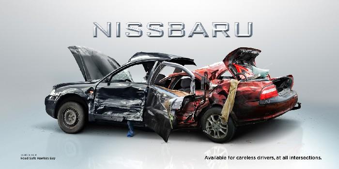 «Nissbaru»: новые модели авто + креативное напоминание о ПДД