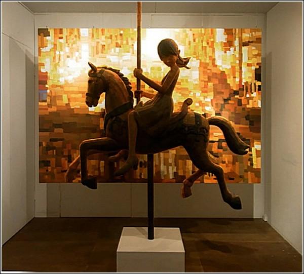 Картины-скульптуры Шинтаро Охаты: карусель