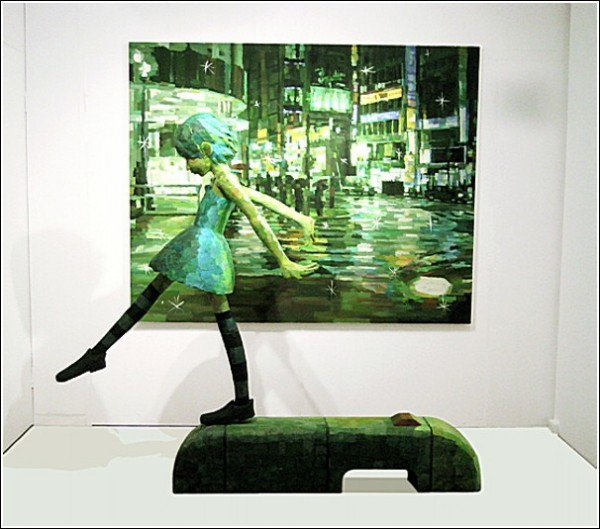 Картины-скульптуры Шинтаро Охаты: вечерний квартал