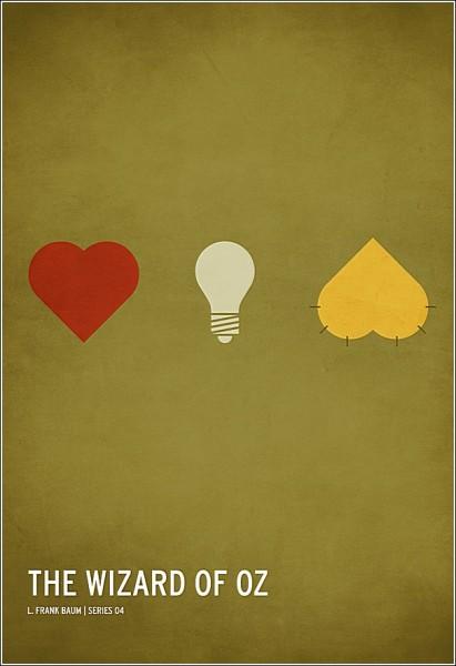 Остроумные минималистичные плакаты: «Удивительный волшебник из страны Оз»