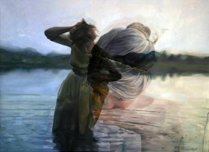Два плана в одном: акриловая и масляная живопись Пакайлы Рэ Бин