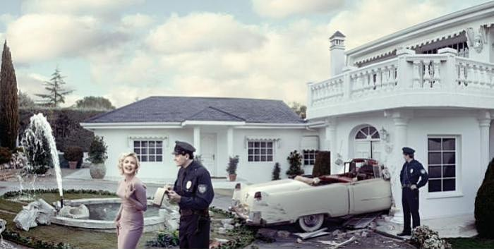 реклама фотоаппарата с панорамной съемкой: Мэрилин Монро