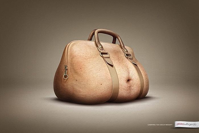Сытое брюхо к пилатесу глухо: оригинальная реклама спортзала