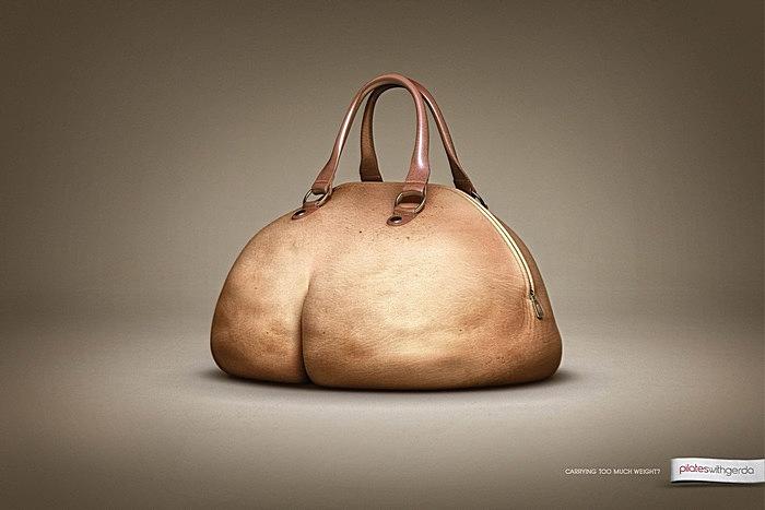 Своя ноша не тянет: оригинальная реклама пилатеса