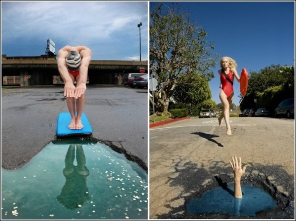 Ударим креативом по бездорожью: забавные фотографии Клаудии Фикки и Дэвида Лучиано