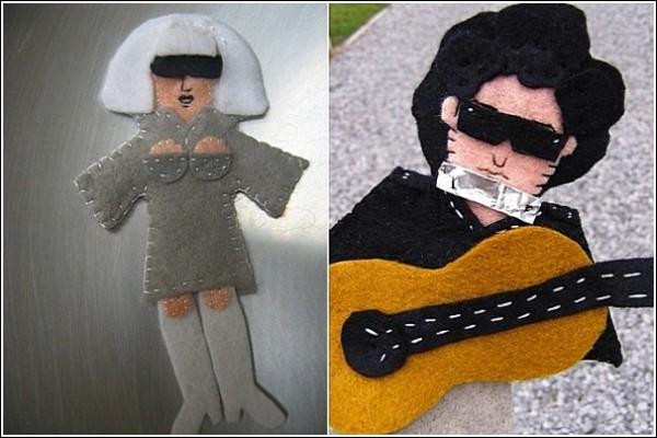 Войлочные знаменитости: перчаточные куклы Мелани Ховард
